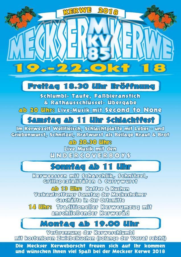 Plakat Meckser Kerwe 2018