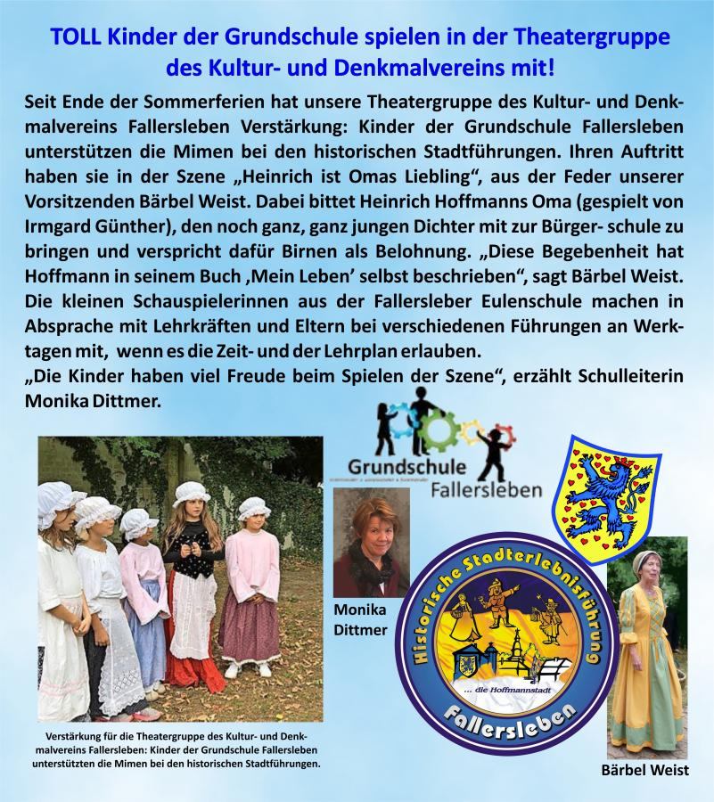Kinder in der Theatergruppe