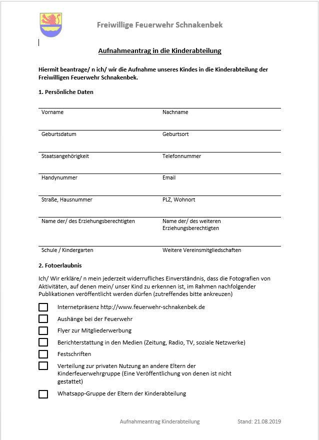 2019-08-20 Kinderabteilung Aufnahmeantrag 1