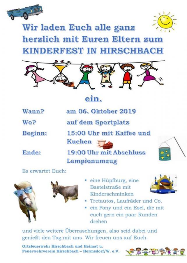 Kinderfest Hirschbach