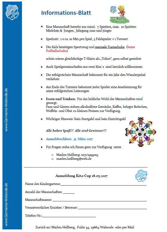 Kindergarten-Cup 2017 Info & Anmeldung
