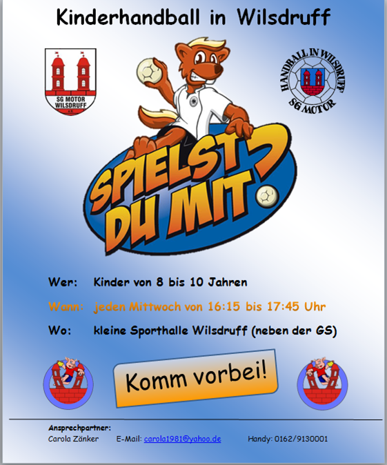 Flyer Kinderhandball 2017