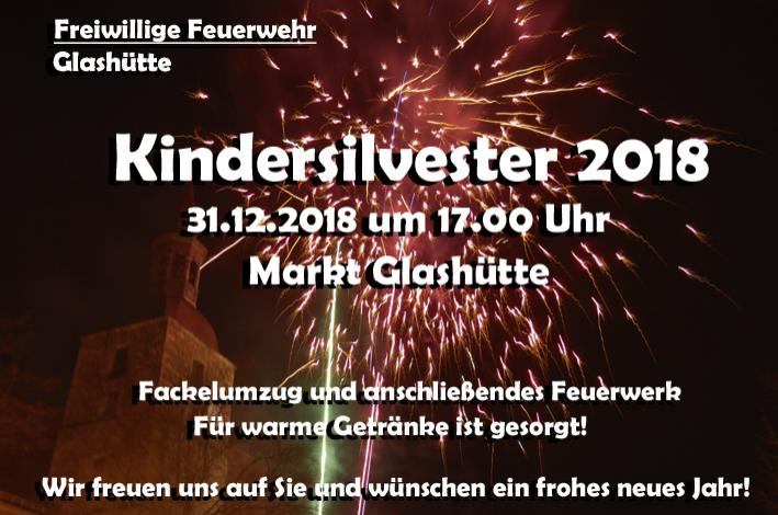 Kindersilvester in Glashütte