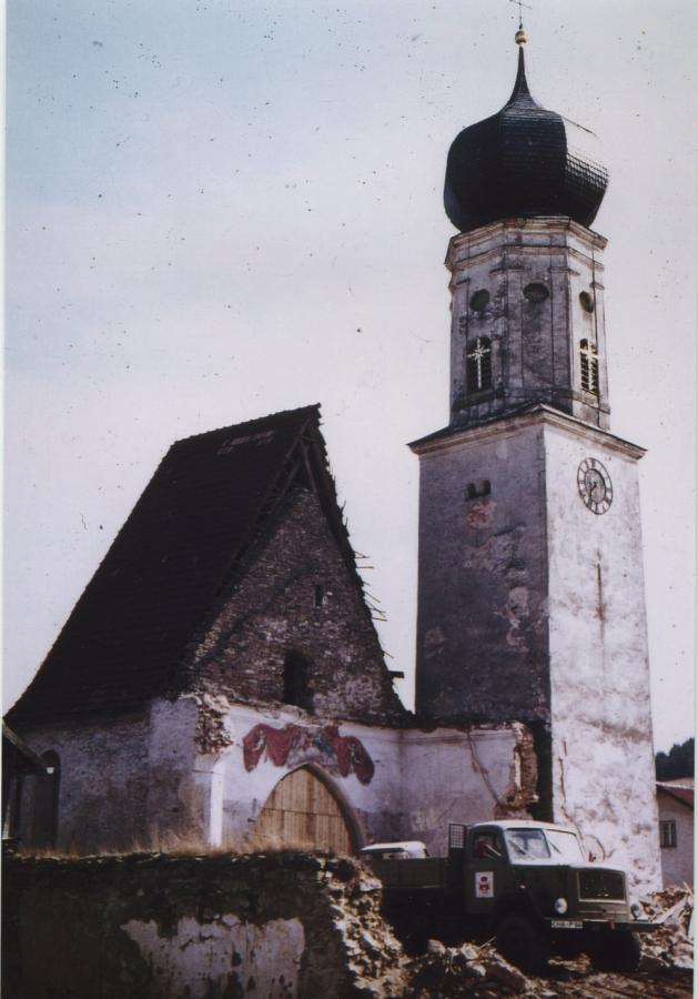 Abriss der alten Pfarrkirche