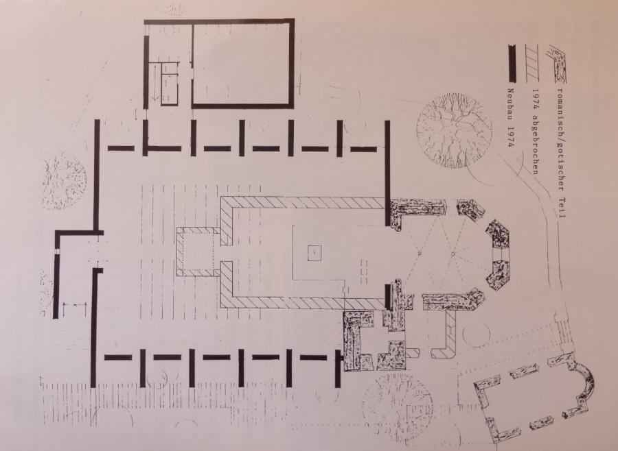 Plan zum Kirchenneubau