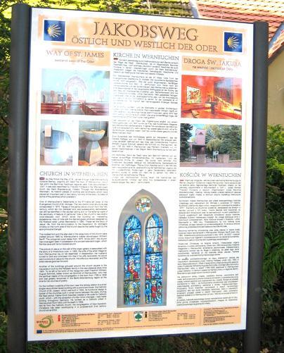 Kirchentafel an der Kirche Werneuchen