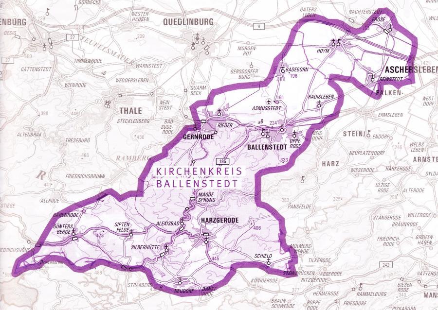 Kirchenkreis Karte