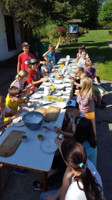 Klasse 3c im Kräutergarten