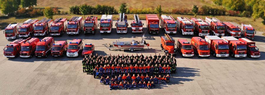 Gruppenbild der Feuerwehr Oranienburg