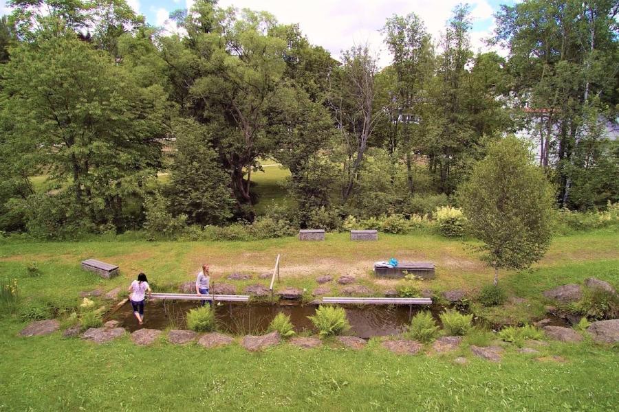 Kneippbecken im Eisensteiner Wanderpark