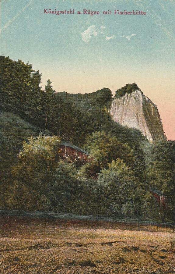 Königsstuhl a. Rügen mit Fischerhütte