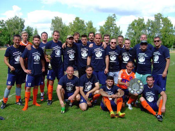Kreismeister 2014/15 SV Blau-Weiß Zorbau II