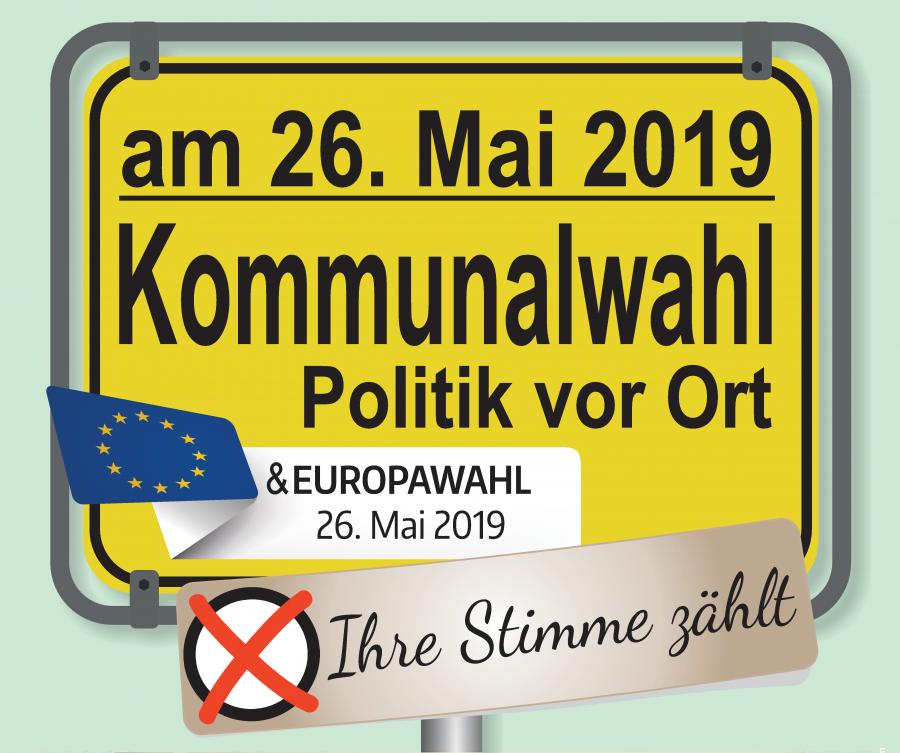 Wahl zum 9. Europäischen Parlament und Kommunalwahlen am 26. Mai 2019