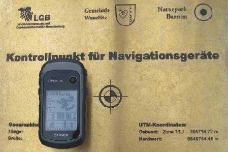 GPS-Kontrollpunkt, Foto: Gemeinde Wandlitz