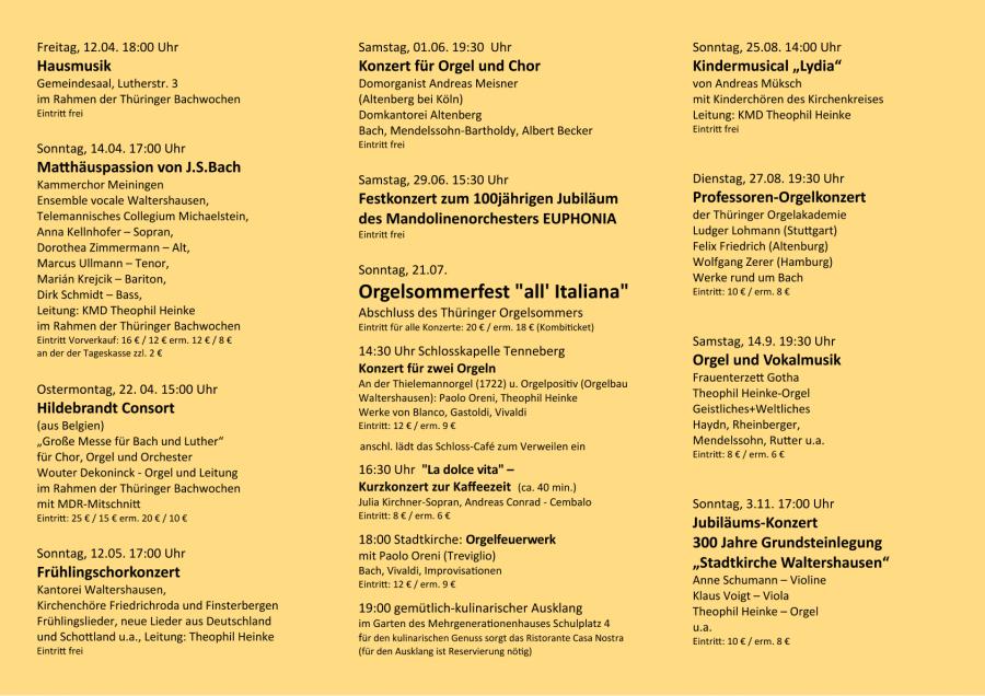 Konzerte 2019 - 2