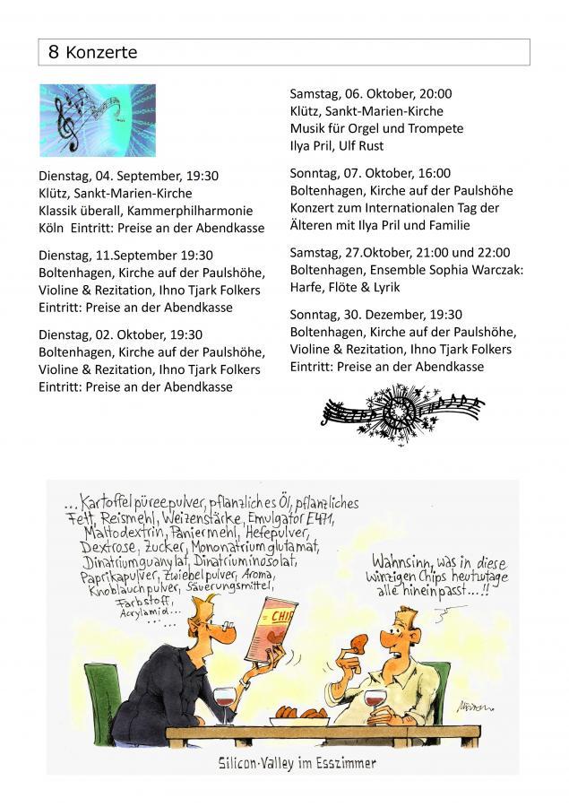 Konzerte September - November 18