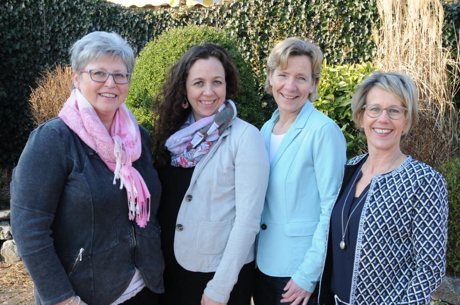 v.l.: Linda Bahr, Sina Bachmann und Susanne Lebedinzew (Koordinatorinnen); Petra Oetken (Büro), (Koordinatorin)