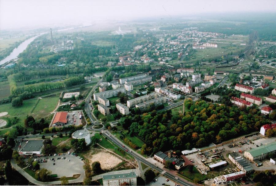 Luftaufnahme von Kostrzyn, unbekannter Autor