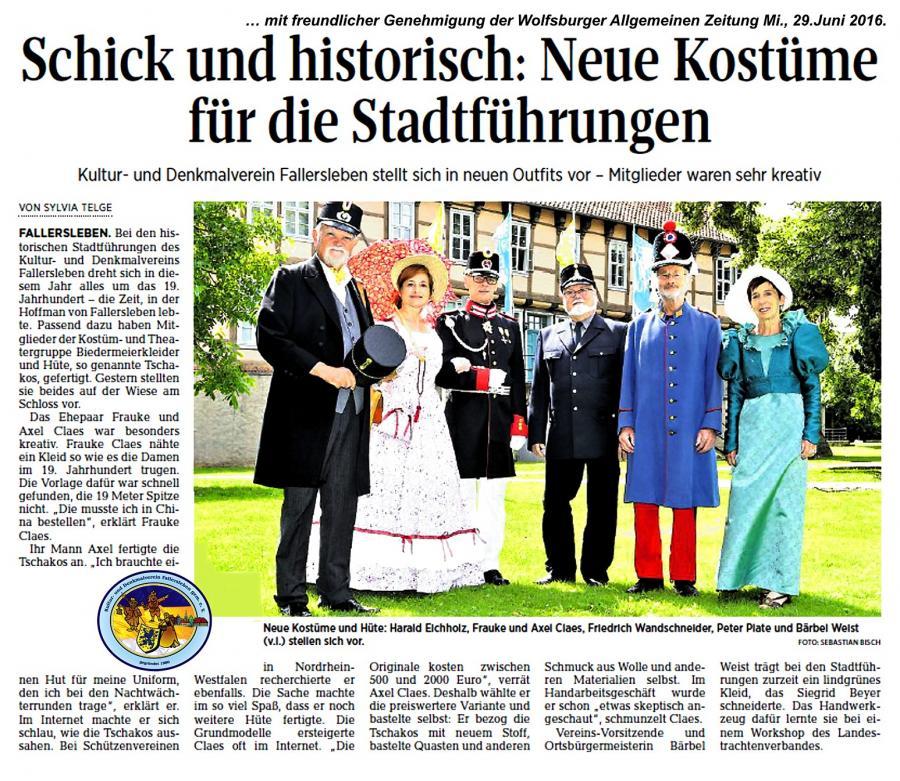 Neue Kostüme Kulturverein Fallersleben