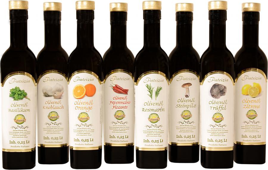 Kräuter-, Frucht- und Würzöle von PATRIZIA aus Sizilien