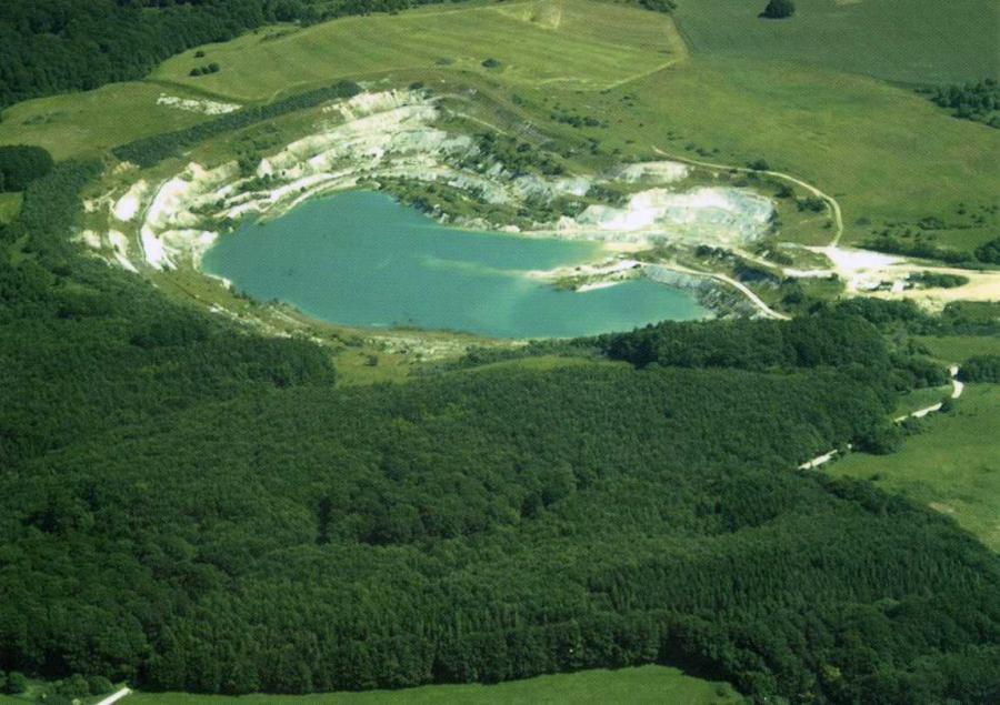 Luftaufnahme Kreidemuseum  und Kreidebruch Gummanz u. Jasmunder Resort