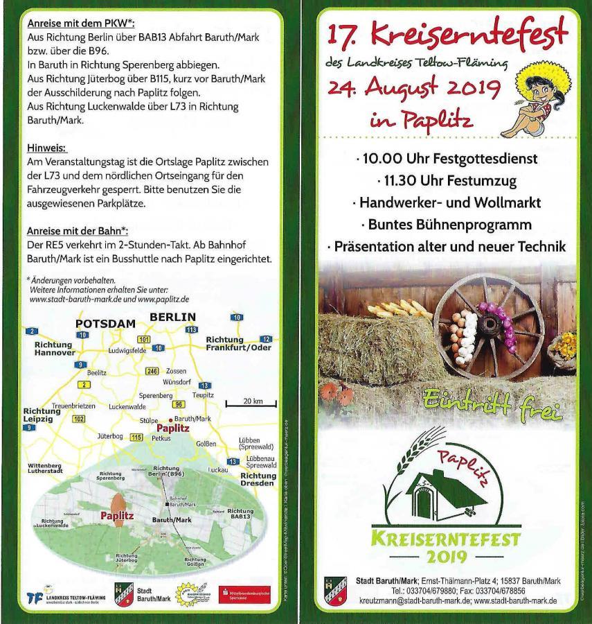 Kreiserntefest - Flyer