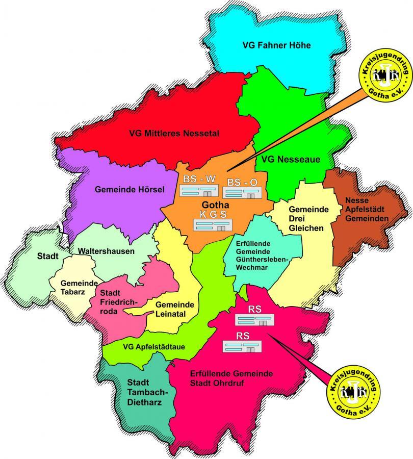 Kreiskarte-Schulen