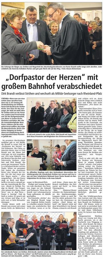 Abschied v.Pastor Brandt