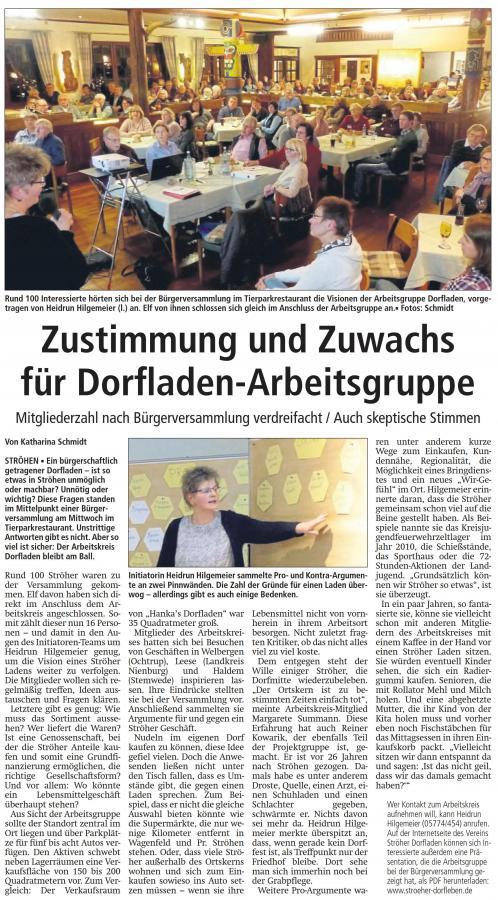 Pressebericht Kreiszeitung v. 26.01.2018