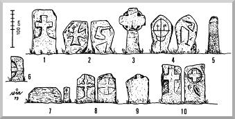 Kreuzsteingruppe Bühren Zeichnung