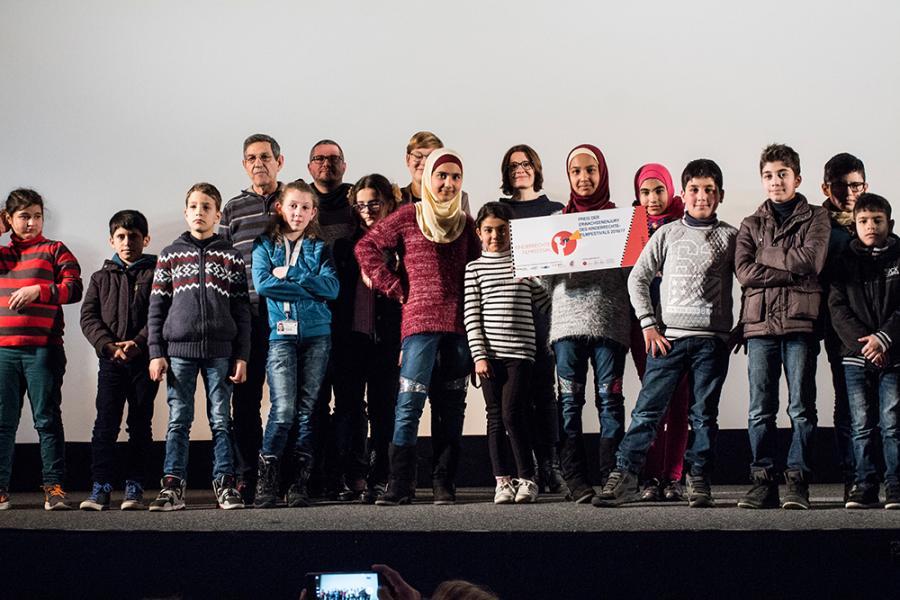 Vorbereitungsgruppe gewinnt den Preis der Erwachsenenjury. Januar 2017