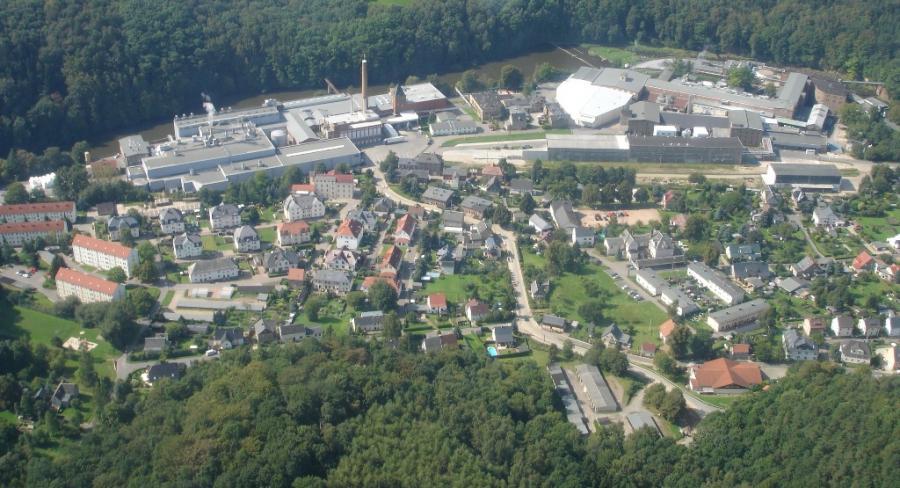 Luftbild von Kriebethal