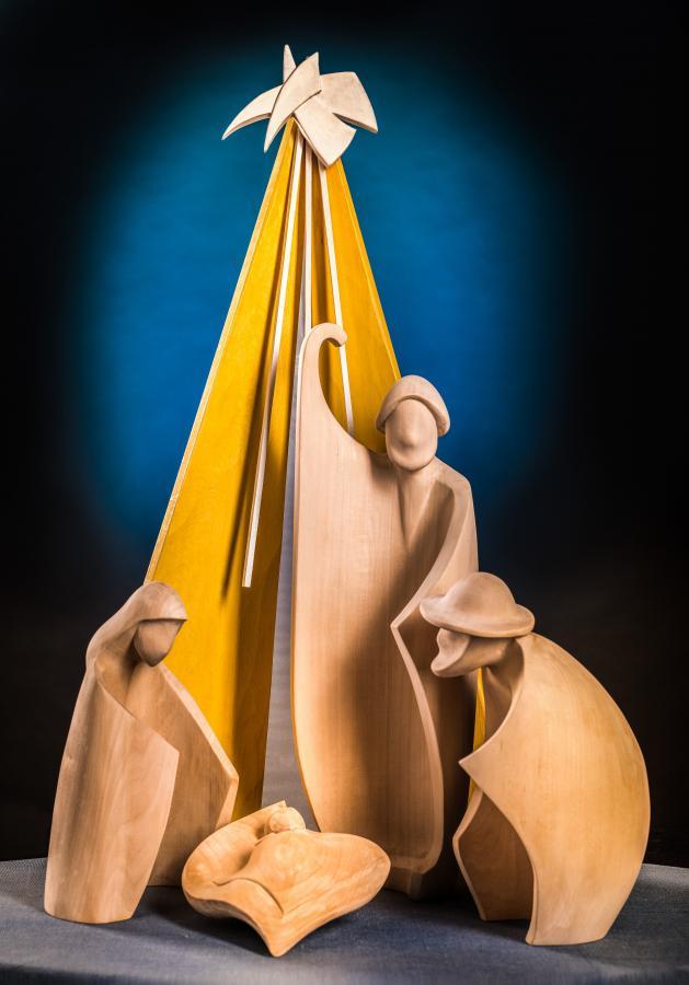 "Krippenweg Großenlüder 2019 - ""Gloria"", Bildhauer Dieter Robert Frank, Milz, Foto: Matthias Hau, Petersberg"