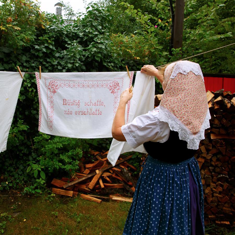 Waschtag_Freilandmuseum Lehde Foto: Andreas Krufczik