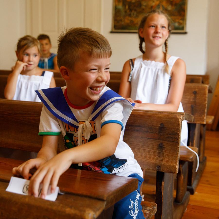 Unterricht im historischen Klassenzimmer Foto- Andreas Krufczik