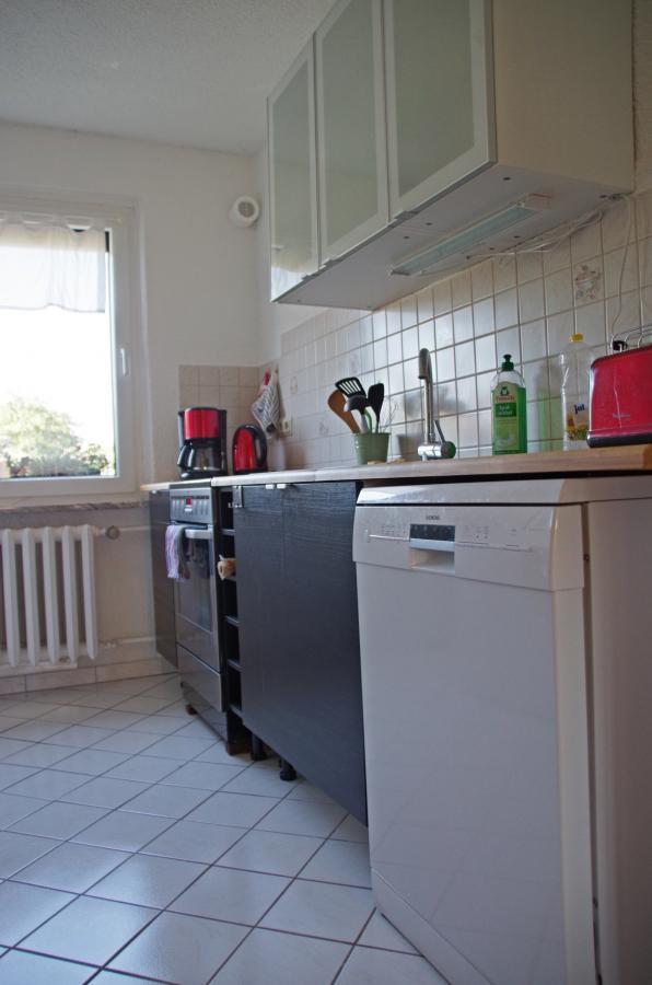 Ferienwohnung Ferchesar Küche mit Geschirrspüler