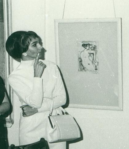 Marianne Kühn-Berger im Museum Neuruppin, 1970 (Ausschnitt) © Brüsehaber
