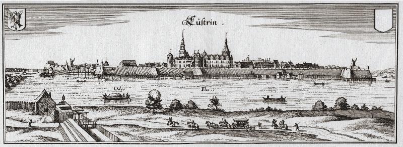 Die Festung Küstrin nach Merian um 1652