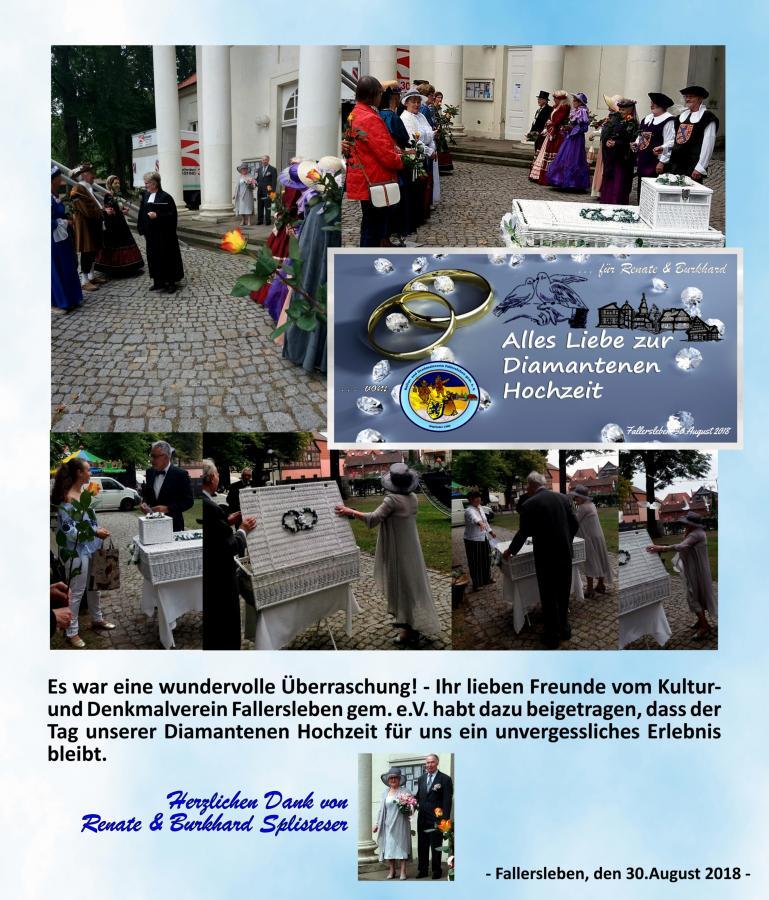 Diamatene HOCHZEIT Fallersleber Kultur und Denkmalverein steht Spalier