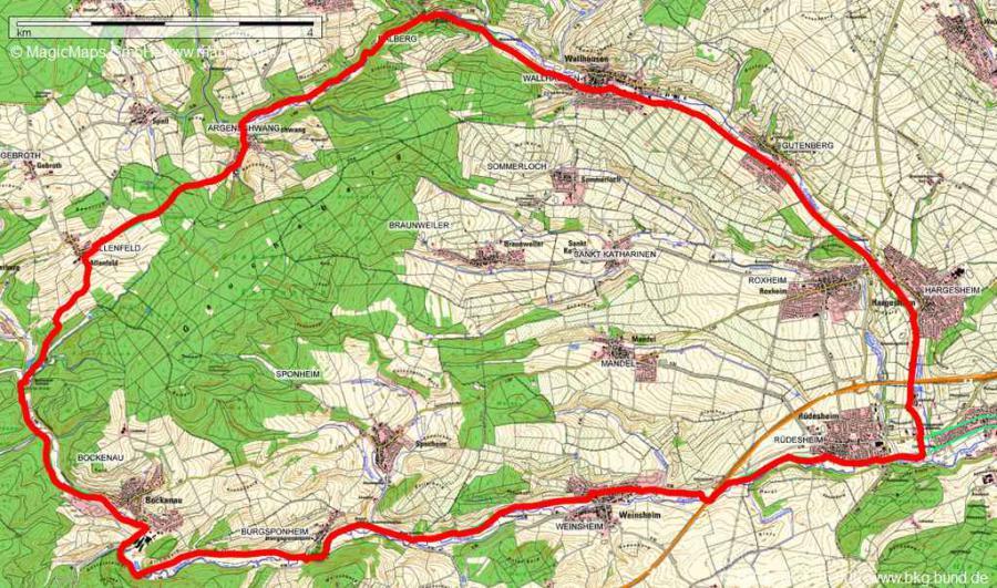 Karte Kleinbahnradrundweg