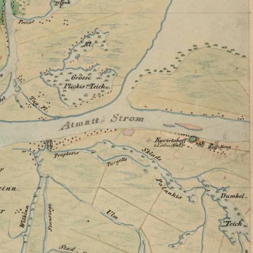 Karte Kuwerthof 1860