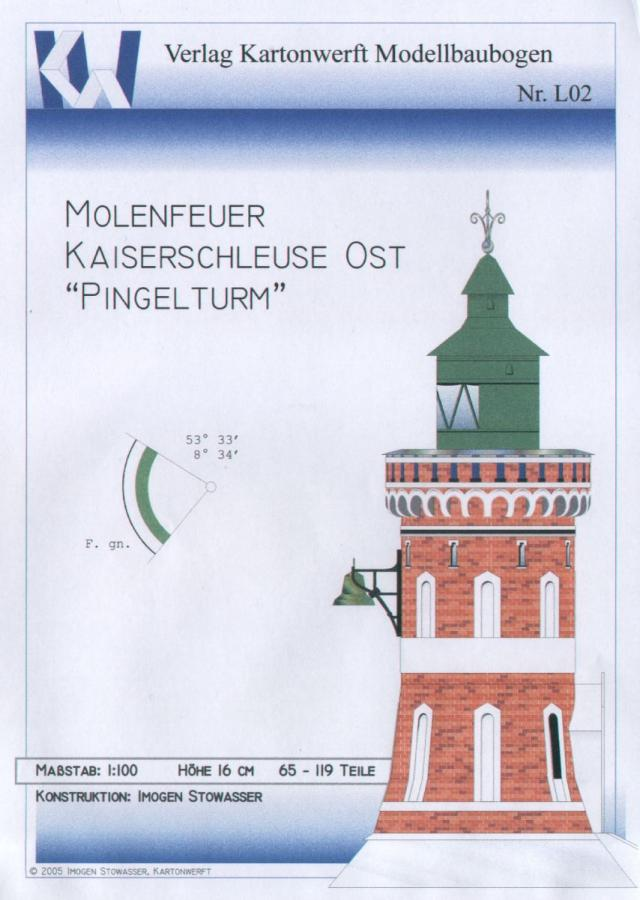 Leuchtturm Molenfeuer Kaiserschleuse Bremerhaven (Pingelturm)