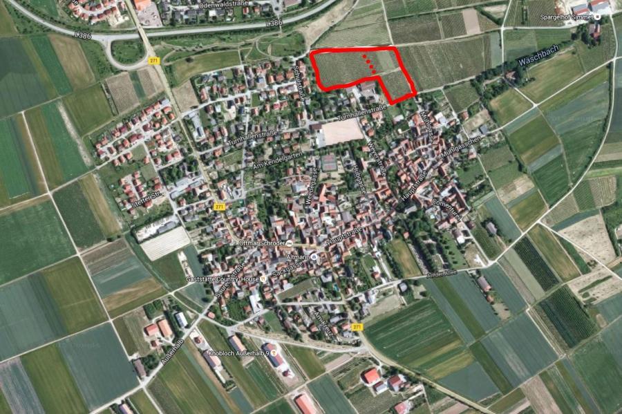 Lage des Baugebietes