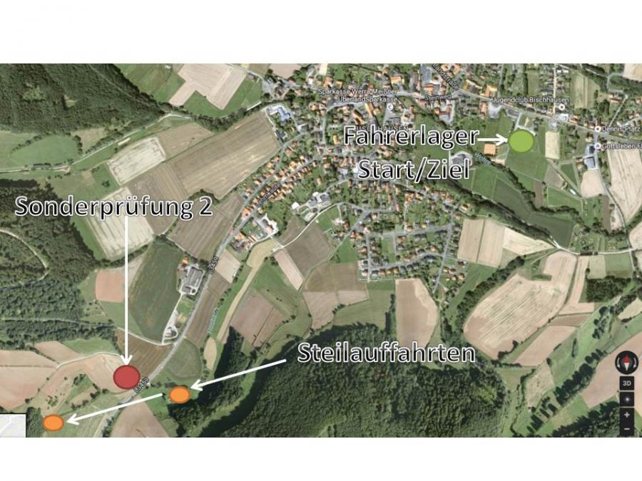 Lagekarte Waldkappel-Bischhausen Enduro