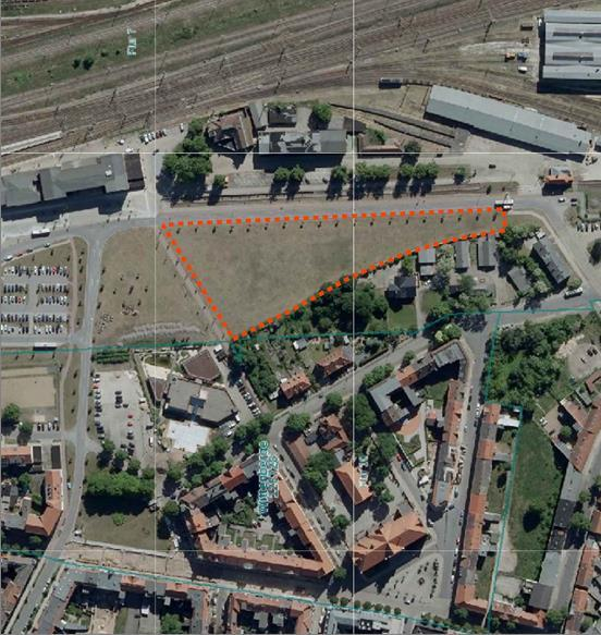 Lageplan – zukünftiger Standort des Sportplatzes