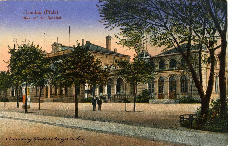 Landau Pfalz Blick auf den Bahnhof