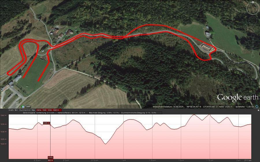 Streckenplan Parcours 2km