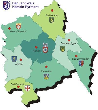 Landkreis mit Wappen