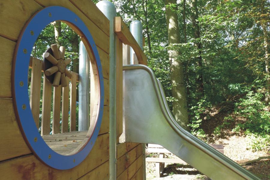 Lanke Spielplatz Am Obersee Spielschiff Detail, Foto Galler