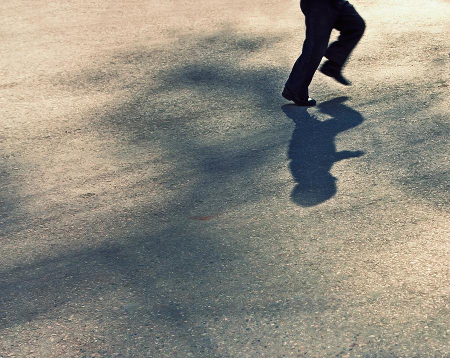Laufen im Schatten